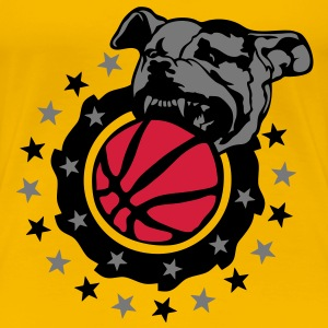 basketball chien pitbull dog logo club Tee shirts - T-shirt Premium Femme