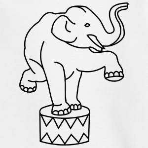 Zoo Zirkus Elefanten Circus Elephants Retro Comic Shirts - Kids' T-Shirt