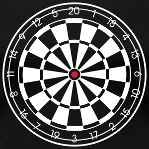 Dartboard for DARK SHIRTS ! Darts Dart Dartscheibe T-Shirts - Frauen Premium T-Shirt