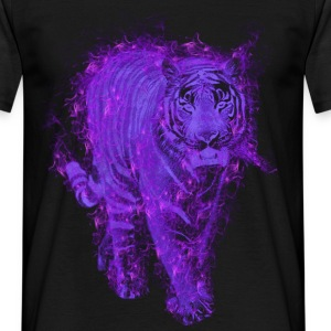 Tiger purple fire T-shirts - T-shirt herr