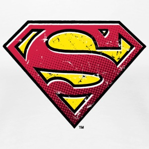 Superman S-Shield Used Look 2 Vrouwen T-Shirt - Vrouwen Premium T-shirt
