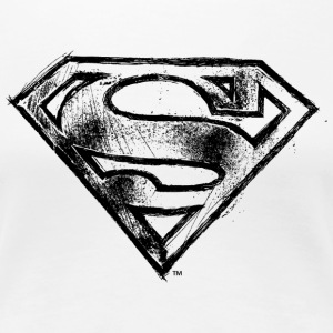 Superman S-Shield Hand-Drawn Vrouwen T-Shirt - Vrouwen Premium T-shirt