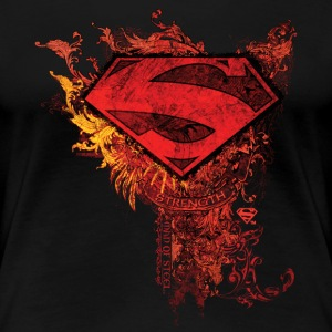 Superman S-Shield Ornate Frauen T-Shirt - Frauen Premium T-Shirt