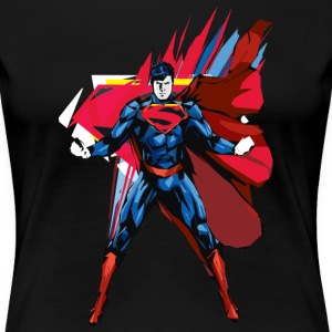 Superman Power Pose dame-T-shirt - Dame premium T-shirt