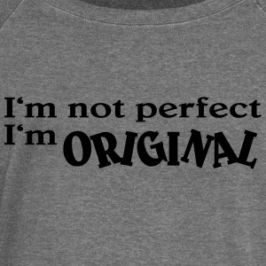 I'm not perfect. I'm original Sweat-shirts - Pull Femme col bateau de Bella