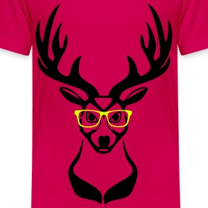 Deer head nerd glasses 2c Shirts - Kids' Premium T-Shirt