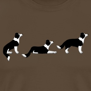 sit down up border collie T-shirts - Herre premium T-shirt