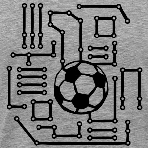 football soccer circuit imprimer printed Tee shirts - T-shirt Premium Homme