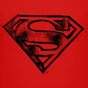 Superman S-Shield Hand-Drawn Kinder T-Shirt - Kinderen Premium T-shirt