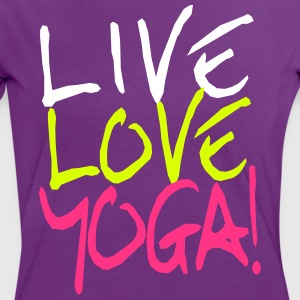 Live Love Yoga! | Yoga Shirts bedrucken T-Shirts - Frauen Kontrast-T-Shirt