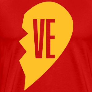ve - love right side couple shirt T-shirts - Mannen Premium T-shirt