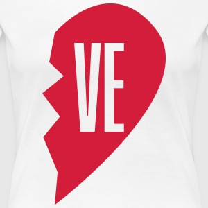 ve - love right side couple shirt T-shirts - Premium-T-shirt dam