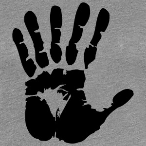 hand with 6 fingers T-shirts - Premium-T-shirt dam