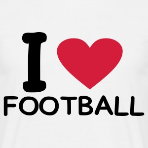 White i love football Men's Tees - Men's T-Shirt