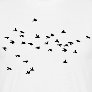 Flying Birds, Fliegende Vögel - Männer T-Shirt