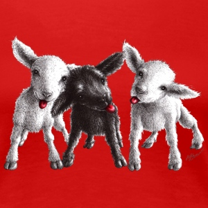 cheeky sheep - Premium T-skjorte for kvinner