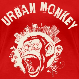 Urban Monkey (positive), DD, yellow T-Shirts - Women's Premium T-Shirt