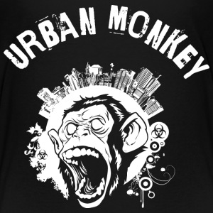 Urban Monkey (positive), Stadt Affe, DD, Weiß T-Shirts - Teenager Premium T-Shirt