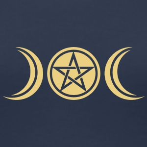 pentagram - wicca triple moon - paganism -magic Koszulki - Koszulka damska Premium