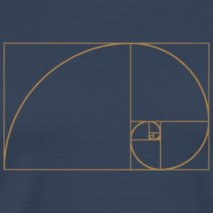 Golden Ratio, Fibonacci, Phi, spiral, geometry T-shirts - Herre premium T-shirt