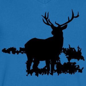 Deer Men's V-neck T-shirt by Canvas - Men's V-Neck T-Shirt