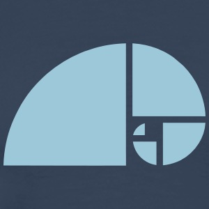 Golden Spiral, Ratio, Phi, Fibonacci, geometry T-shirts - Mannen Premium T-shirt