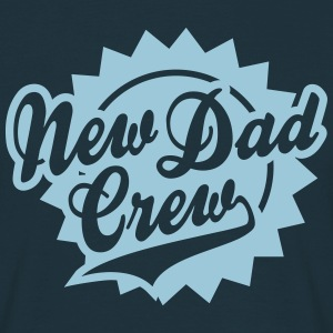 New Dad Crew Shield Design T-Shirt HN - T-skjorte for menn