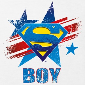 Superman S-Shield Boy Kinder T-Shirt - Kinder Bio-T-Shirt