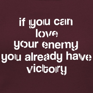 If you can love your ennemy Victory T-shirt - Frauen T-Shirt mit U-Ausschnitt