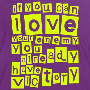 Love your enemy Camisetas - Camiseta contraste mujer