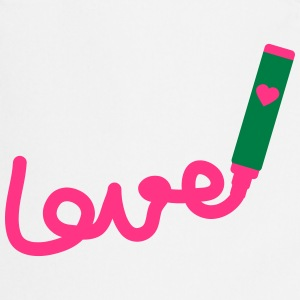 love with marker_p1  Aprons - Cooking Apron
