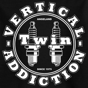Kids' Vertical Twin Addiction -White logo  - Kids' T-Shirt