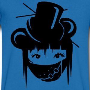 Girl in Visual Kei Style T-Shirts - Men's V-Neck T-Shirt
