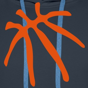 basketball trace trait ballon Sweat-shirts - Sweat-shirt à capuche Premium pour hommes