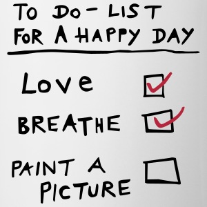 LOVEmug Happy Day To Do List (Painters) - Tasse