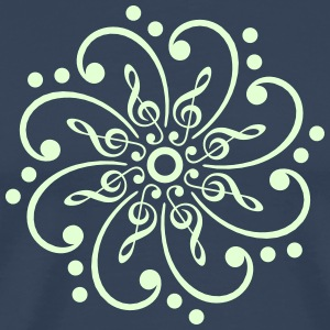 Bass & treble clef - glow in the dark! T-Shirts - Men's Premium T-Shirt