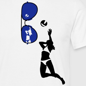 volleyball_brille T-shirts - Herre-T-shirt