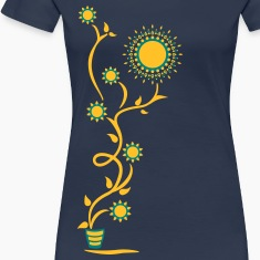 The Sun Shines Here ! Sunflower, Ranke, 2c T-Shirts