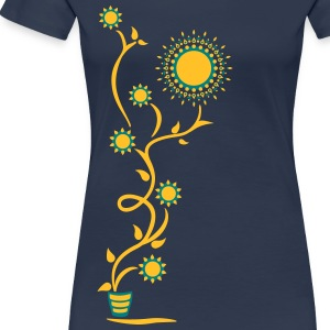 The Sun Shines Here ! Sunflower, Ranke, 2c T-Shirts - Women's Premium T-Shirt