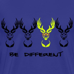 Be different! Deer Nerd Geek 3c T-Shirts - Men's Premium T-Shirt