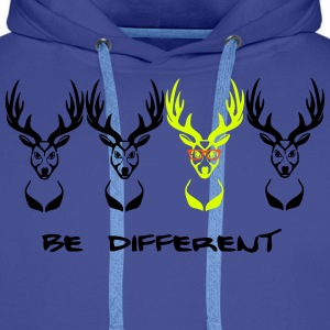 Be different! Deer Nerd Geek 3c Hoodies & Sweatshirts - Men's Premium Hoodie