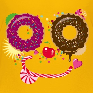 Sweet face with donuts and candy cane Shirts - Teenage Premium T-Shirt