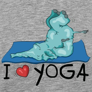 The elephant loves the shoulder stand in yoga T-Shirts - Men's Premium T-Shirt