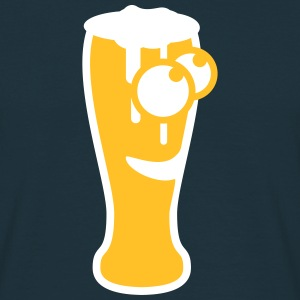 Happy Beer Glas T-shirts - Herre-T-shirt