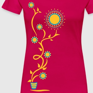 The Sun Shines Here ! Sunflower, Ranke, 2c Magliette - Maglietta Premium da donna