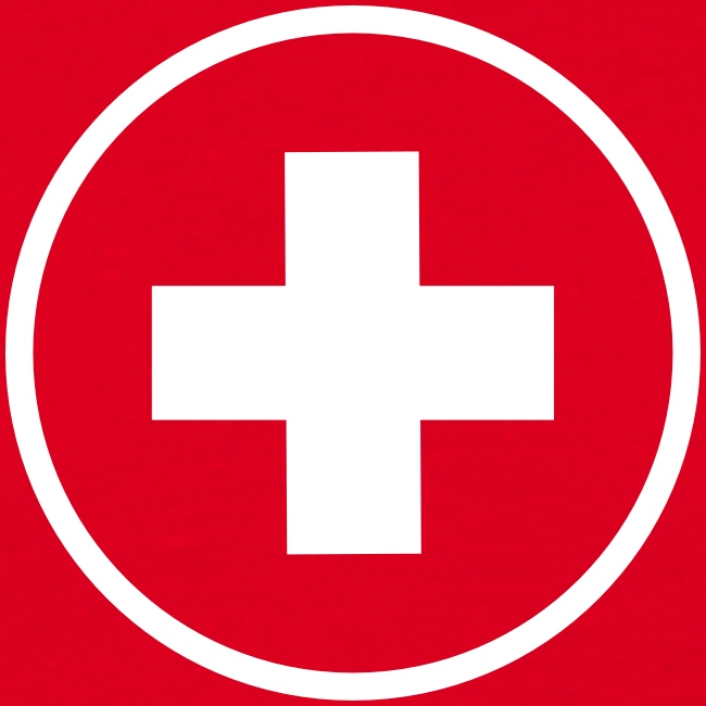 Round Swiss Cross  T-Shirt Herren