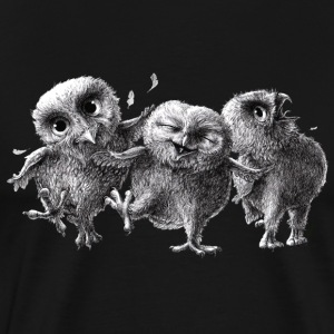 three crazy owls - Premium T-skjorte for menn
