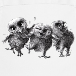 three crazy owls - Keukenschort