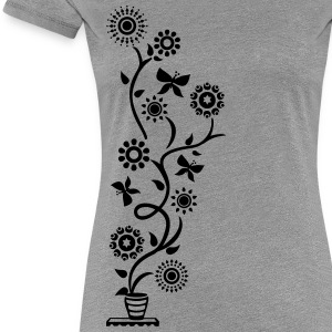 Summer, Sun, Sunflower! Plant, ranke, 2c T-shirts - Vrouwen Premium T-shirt