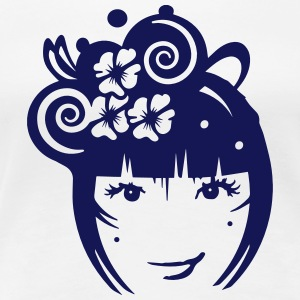 Girl with hair jewelry and flowers T-Shirts - Women's Premium T-Shirt